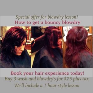 Get A Blowdry lesson